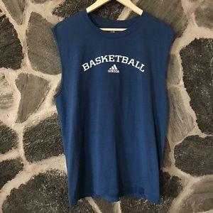 v t g | dark blue ADIDAS basketball sleeveless tee